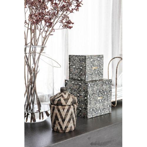 Úložný box Floral Black