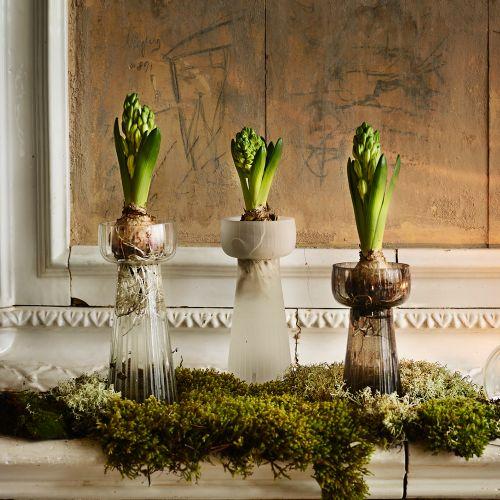 Skleněná váza Etched Stripe Large