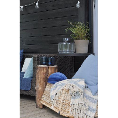 Bavlněný pléd Cream blue stripe 130x160 ... 28543d3379