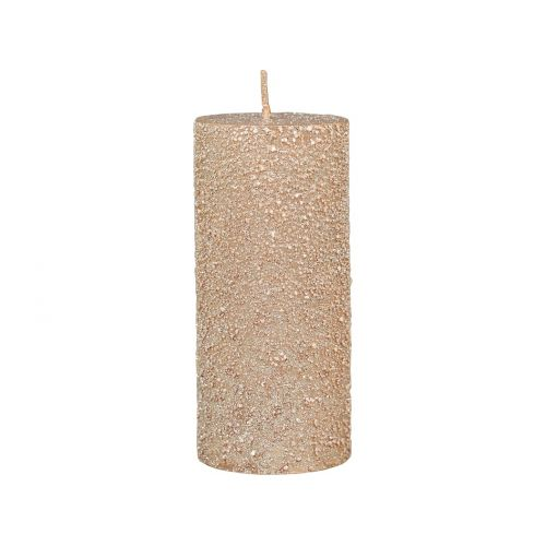 Kulatá svíčka Rustic Glitter Powder 11 cm