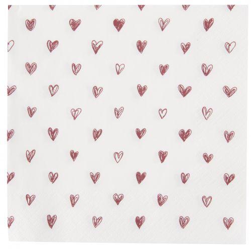 Papírové ubrousky Hearts - 20ks