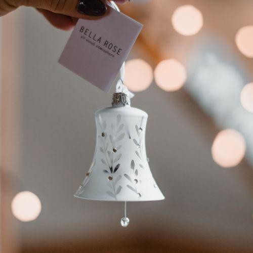 Vánoční ozdoba Crystal Clear Matt Bell 8 cm