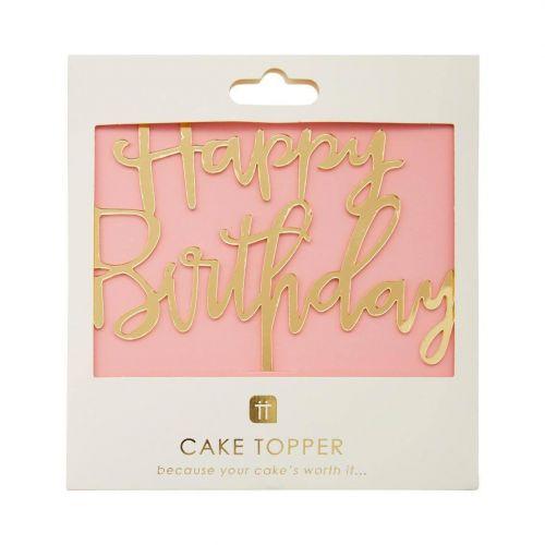 Zapichovací nápis na dort Happy Birthday Topper