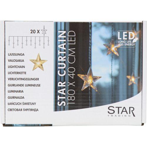 Světelný řetěz s hvězdičkami Star Curtain 180 cm