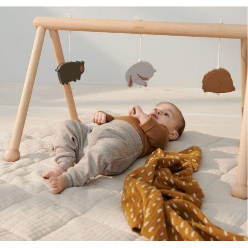 Dětská mušelínová plenka Golden Caramel - set 2 ks