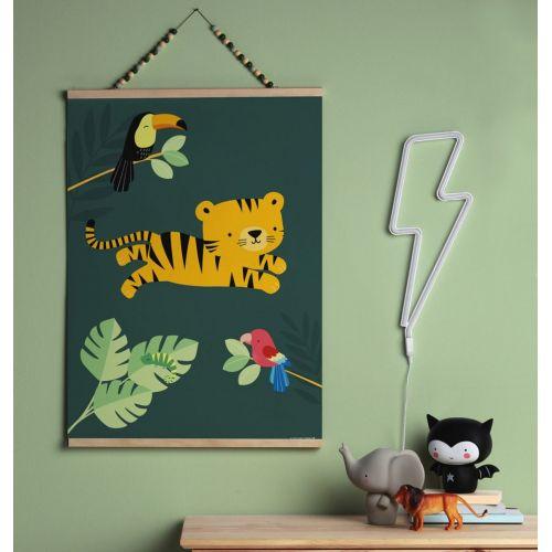 Dětský plakát Jungle Tiger 50 x 70 cm