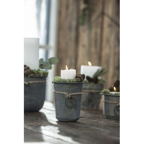 Kovový obal na květináček Medium Pot Grooved