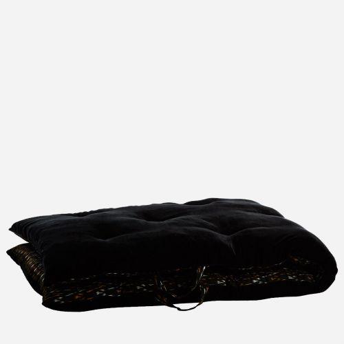 Bavlněná skládací matrace/sedák Black 70x180cm