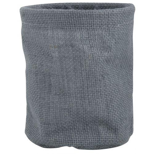 Jutový obal na květináč - šedý