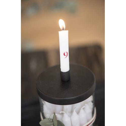 Adventní svíčky 1-24 White/red