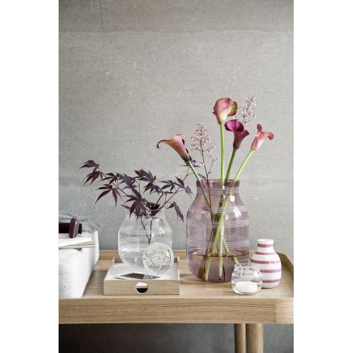 Skleněná váza Omaggio Transparent 17 cm