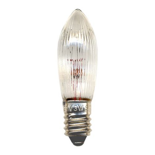 Náhradní žárovka E10 34 V - 3 ks