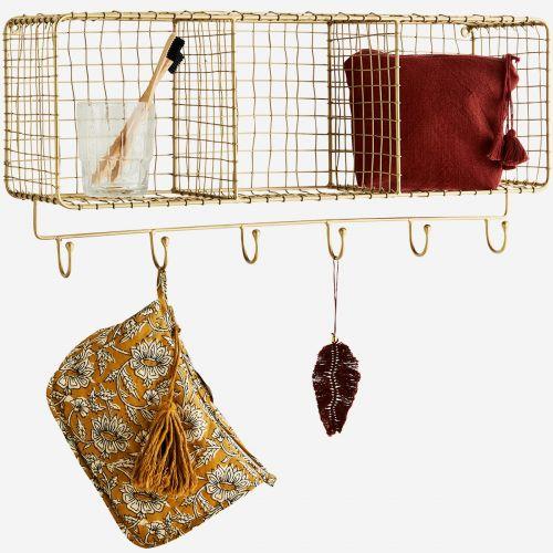 Drátěná polička s háčky Hanging Shelf Hooks