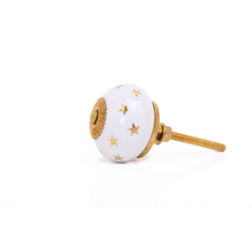 Porcelánová úchytka Gold Star