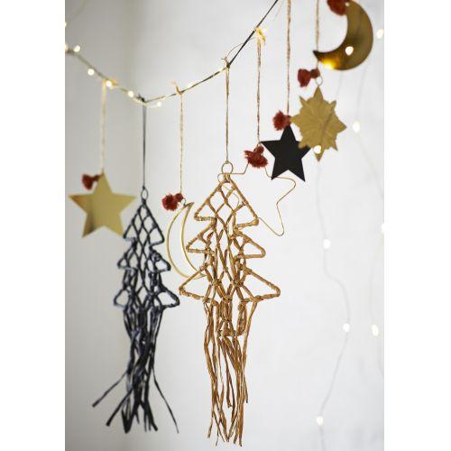 Závěsná vánoční ozdoba Christmas Tree Raffia