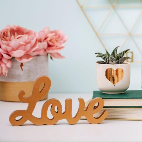 Dekorativní zlatý nápis Love