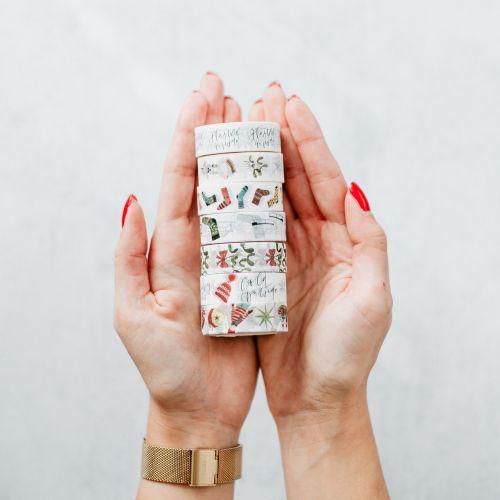 Vánoční papírová lepící páska Gingerbreads