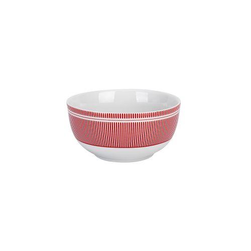 Porcelánová miska Pinstripe Red