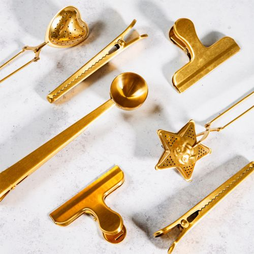 Kovová svorka Gold Brass - set 2ks