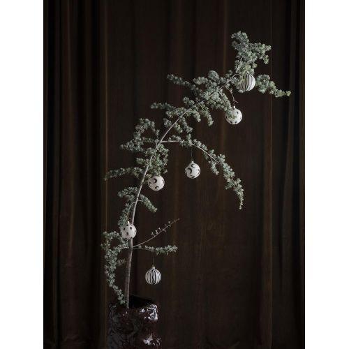 Vánoční ozdoby White & Brown Set 4 ks