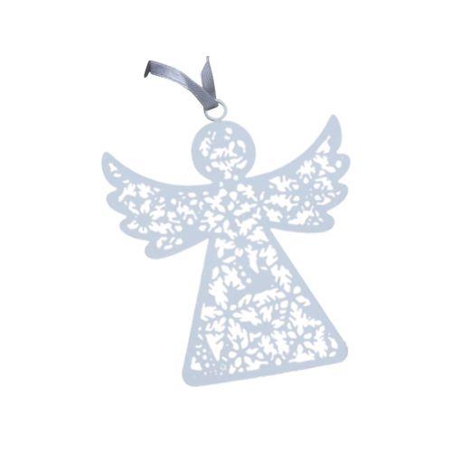 Závěsný plechový andílek White