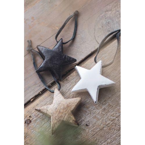 Dřevěná hvězdička Black