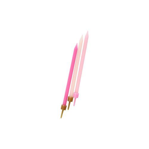 Dortové svíčky Pink - 16ks