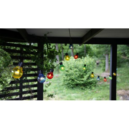 Světelný venkovní LED řetěz Colour- 16 žárovek