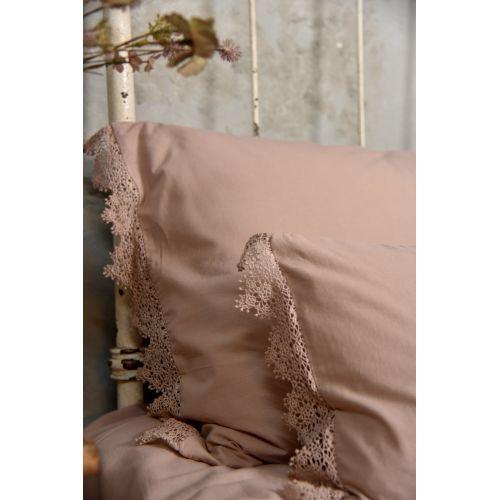Povlak na polštář s krajkou Lace Old Rose 30×50 cm