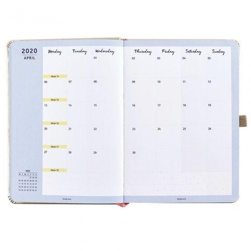 Plánovací diář Perfect Gold Diary 2020