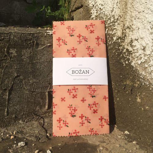 Voskovaný ubrousek Růžové Květy 28 × 40 cm