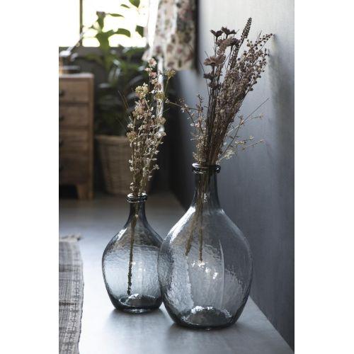 Skleněná váza Balloon Grey 36 cm