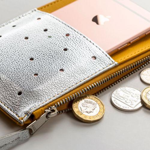 Peněženka s kapsičkami Yellow Silver