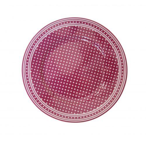 Dezertní talíř Micro Dots Plum