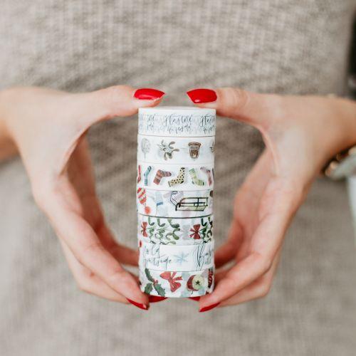 Vánoční papírová lepící páska Winter Fun