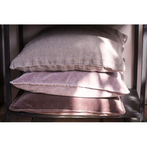 Sametový povlak na polštář Aubergine 52x72 cm