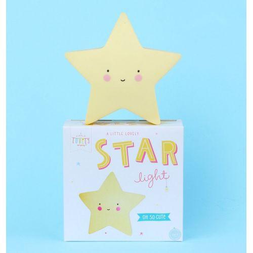 Noční LED lampička Yellow star