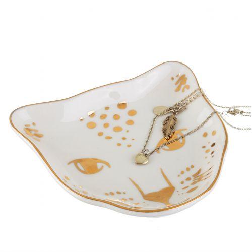 Porcelánový talířek na šperky Leopard Love