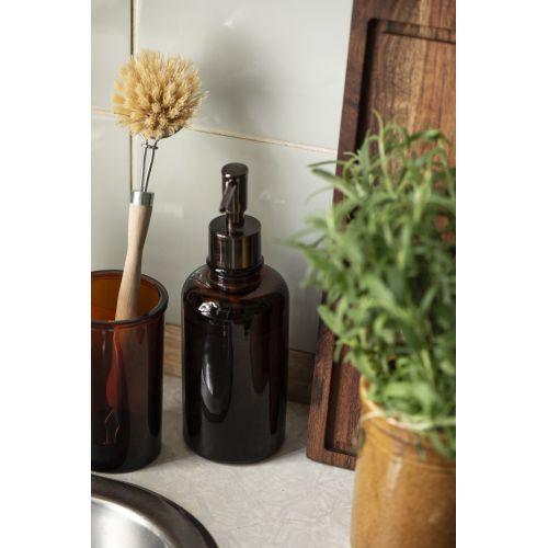 Skleněný dávkovač mýdla Brown Glass