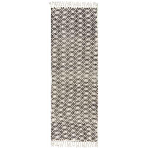 Bavlněný koberec Black/white 60x180