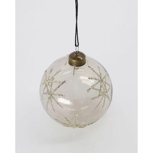 Vánoční baňka Star Clear / Silver Ø8 cm