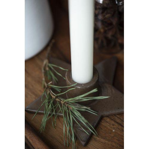 Svícen na vysokou svíčku Star Brown