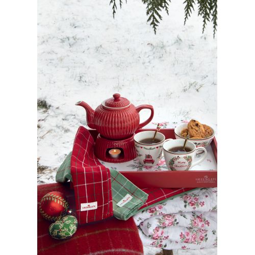 Skleněná vánoční baňka Christmas Red 8 cm