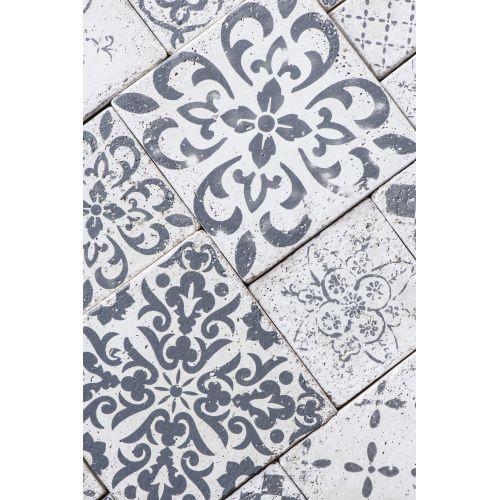 Mini keramická kachlička Marrakech Grey