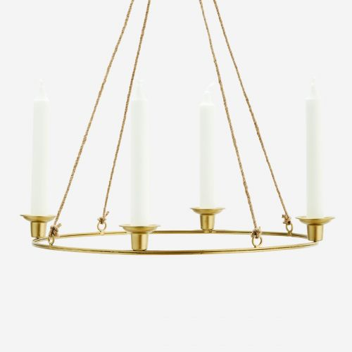 Závěsný svícen Gold Round Candle Holder