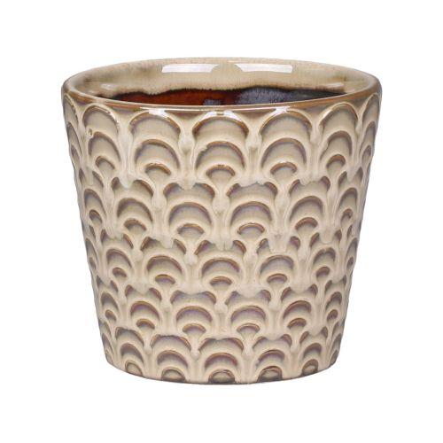 Keramický obal na květináč Nîmes Latte 11 cm