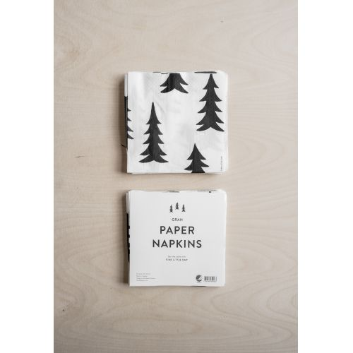Papírové ubrousky Gran Black