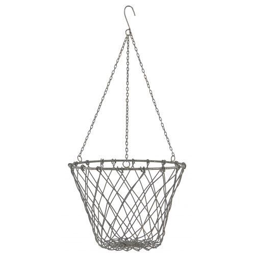 Závěsný kovový košík 21 cm
