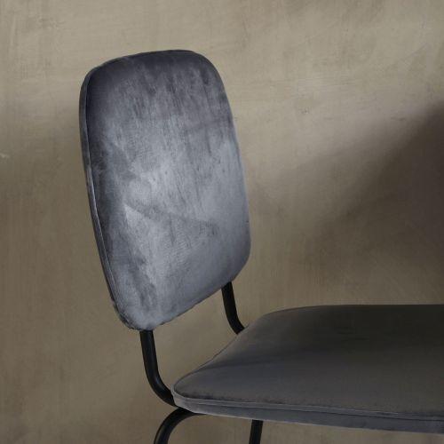 Sametová židle Comma Grey