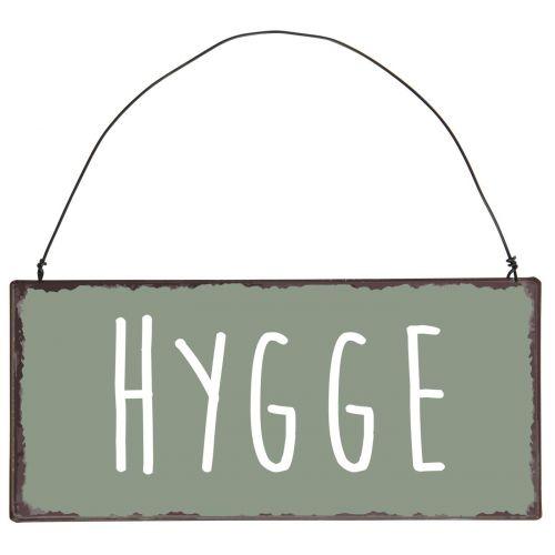 Plechová cedle Hygge